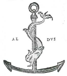 il delfino attorcigliato all'ancora simbolo di Aldo Manuzio